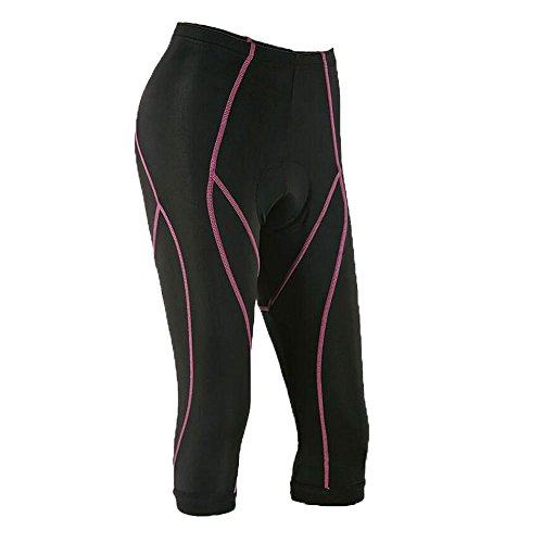 Xcellent Global Ciclisti short da donna imbottitura 3D Gel traspiranti, pantaloni da bicicletta, pantaloncini ciclisti, ciclisti aderenti, Nero FS027S