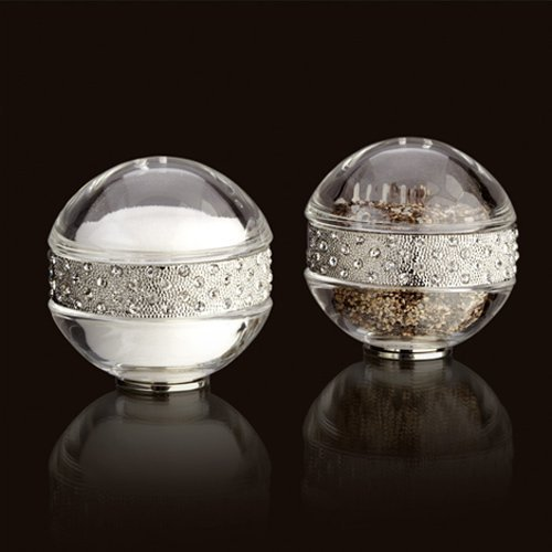 L'Objet Spice Jewels Pave Band Salt & Pepper Set, Platinum by L'Objet
