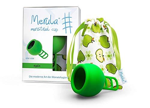 Merula Cup apple (grün) - One size Menstruationstasse aus medizinischem Silikon (Apple One)