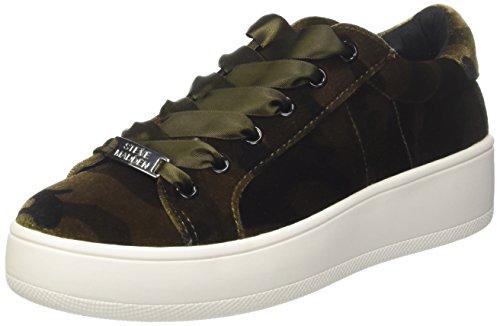 Steve Madden Damen Bertie-v Sneaker, Grün (Green Camo), 39 EU (Madden Sportschuhe Steve)