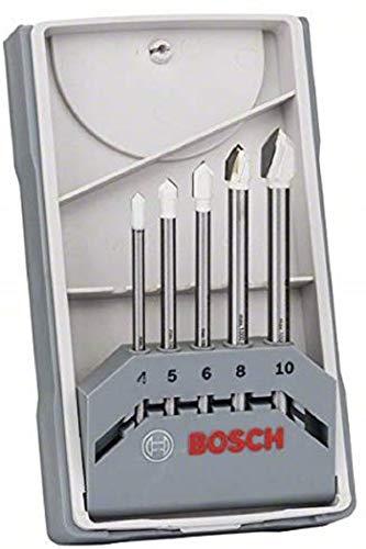Bosch Professional 5tlg. Fliesenbohrer Set (für Fliesen, Keramik, Porzellan, Zubehör für Bohrmaschinen)