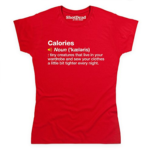 Definition of Calories T-Shirt, Damen Rot