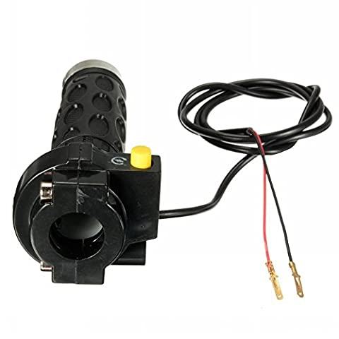 Ungfu Mall 7/8inch 22mm Right Throttle Grip with Ignition Kill Switch Assembly Pocket Motorcycle