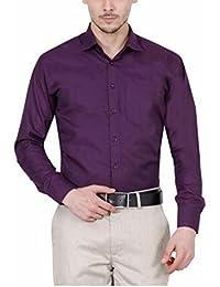 PSK Men's Regular Fit Purple Color Formal Shirt.