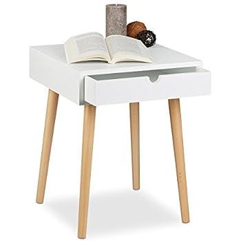 hortense table de chevet 40 cm laqu blanc satin cuisine maison. Black Bedroom Furniture Sets. Home Design Ideas