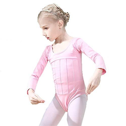 Kind Kleine Mädchen Team Basic Langarm Weiche Baumwolle Balletttanz Trikot Strumpfhosen Einteilige Gymnastik Bodysuit Tank Tops Sportlich Sportbekleidung Dance Outfit ()