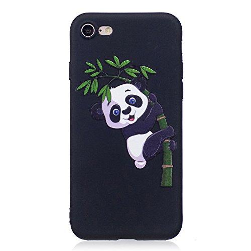Coque iPhone 5S Silicone, LuckyW Housse Etui TPU Silicone Clear Clair Transparente Gel Slim Case pour Apple iPhone 5 5S SE Soft de Protection Cas Bumper Cover Converture Anti Poussières Couvercle Anti Panda