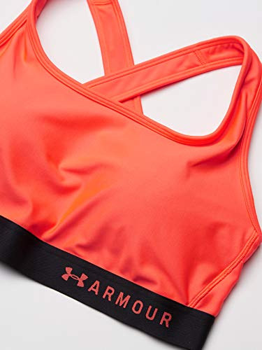 Under Armour Damen Mid Crossback Compression Sports Bra Atmungsaktives Bustier, Komfortable Funktionsunterwäsche Mit Kreuzträgern Und Passform Kompression, Rot, LG - 8
