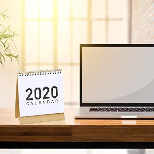 TARTIERY Tischkalender Stehender Tischkalender 2019-Dec 2020 Bonus-Aufkleber für Tischkalender Stehender Stehender Tischkalender mit Staffelei für die Tischplatte