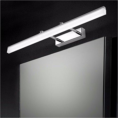Badspiegel Lampe LisaFeng Anti Fog ausziehbaren Spiegel, Scheinwerfer, Badezimmer Wand Lampe, moderne, einfache wasserdicht Edelstahl Hocker, Silber - 50 CM (Anti-fog-rasierspiegel)