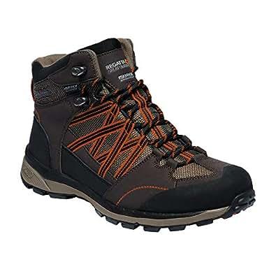 Regatta Mens Samaris Mid II Hiking Boots (6 UK) (Peat/Gold Flame)