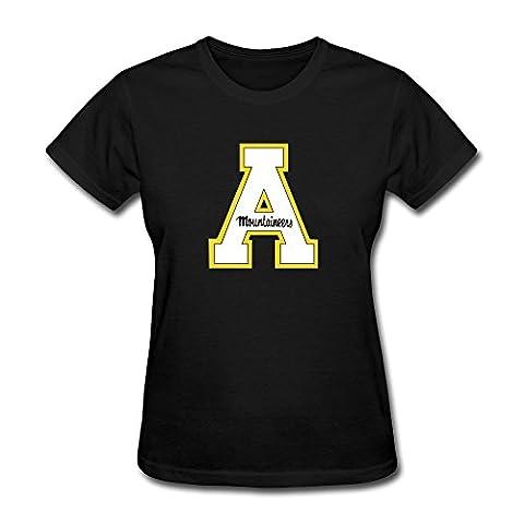 Laugh Dusk Women's 100% Cotton Appalachian State University Logo 1 Tshirts