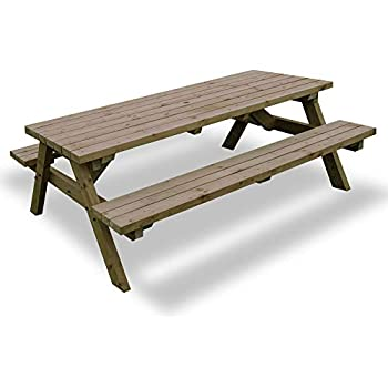 Wooden Garden Picnic Table Bench Pub Style Outdoor Furniture 5ft