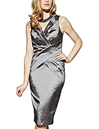APART Fashion Damen Cocktail Kleid Taftkleid, Knielang