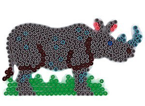 Desconocido Hama Perlen 295 - Pared perforada rinoceronte