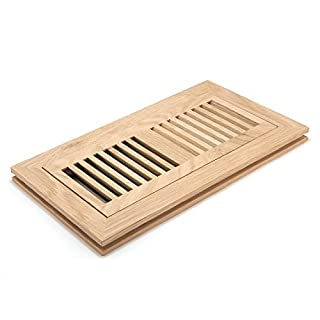 Accord AOFMWU410 Floor Register with Flushed Mount Louvered, 4-Inch x 10-Inch(Duct Opening Measurements), Unfinished White Oak