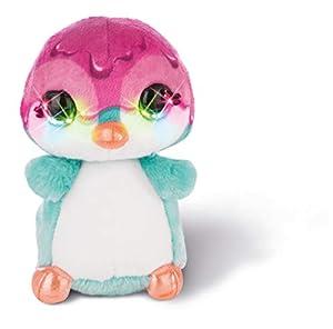 NICI NICIdoo Ojos mágicos pingüino Deezy, Peluche 12cm varierdad Colores 42484
