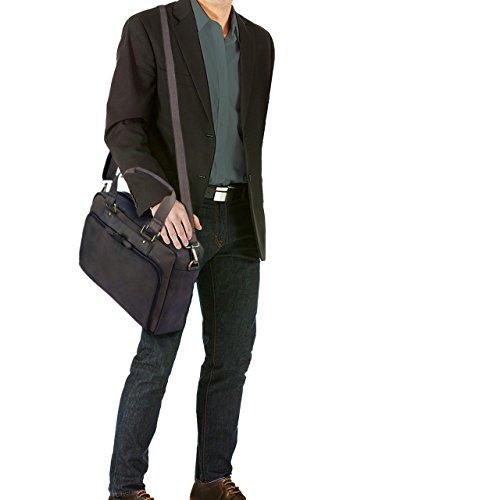 STILORD 'Jon' Borsa lavoro uomo in vera pelle vintage Grande borsa a tracolla Cartella Borsa portadocumenti porta PC 15.6 pollici per ufficio università, Colore:ebano - marrone marrone scuro - pallido