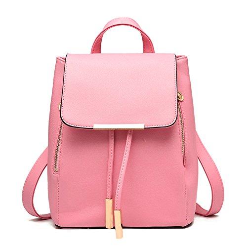 Sacchetto di spalla dello zaino delle signore delle ragazze delle donne delle donne del zaino del sacchetto di spalla di Myleas Rosa