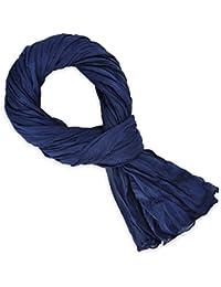 Chèche coton bleu marine uni