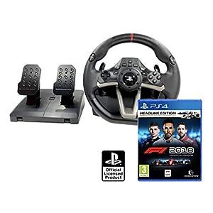 Volante e pedali PS4 originale con licenza Playstation 4 Rwa Apex + Formula 1 2018 Headline Edition - F1 2018