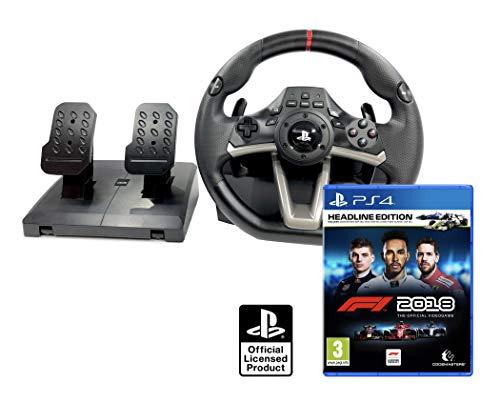 formel eins ps4 PS4 Lenkrad und Pedale Orig. Licensed PlayStation 4 RWA Apex + Formula 1 2018 Headline Edition - F1 2018