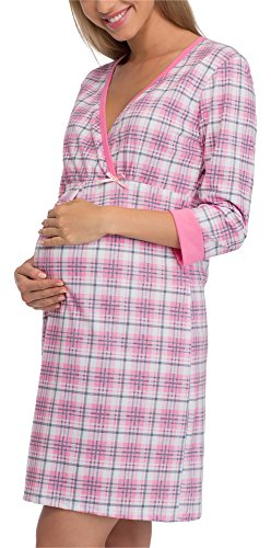 Cornette camicia da notte premaman 652/17 (rosa/grigio, l)