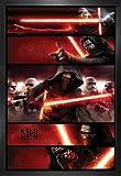 1art1® Star Wars Poster et Cadre (MDF) - Le Réveil De La Force Épisode VII, Kylo Ren (91 x 61cm)