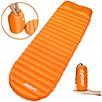 Inflatable Sleeping Mat,Camping Inflatable Sleeping Pad with Attached Inflatable Pillow Camping Mattress Ultralight Portable Sleeping Pad Bag with Pillow for Camping, Travel, Hiking, Backpacking