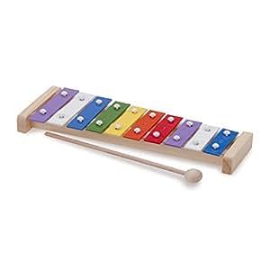 New Classic Toys - 10215 - Instruments de Musique - Percussion - Métallophone à 10 tons avec Le Livre de Musique