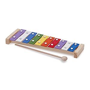 Toys-10215 New Classic Toys-10215-Tambor para niños, Color Madera (0215K)