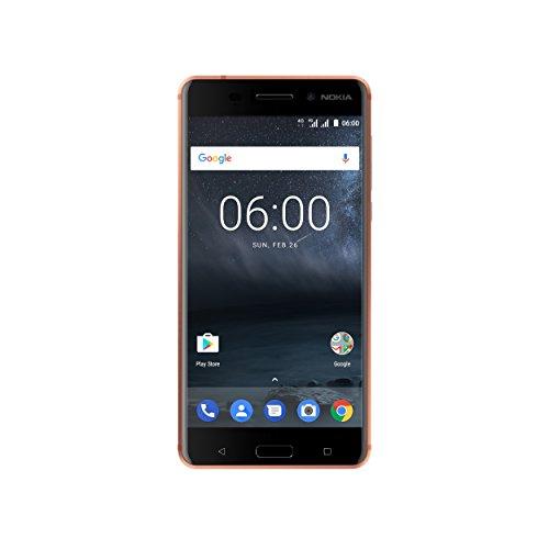 Nokia 6 Dual SIM Smartphone (13,9 cm (5,5 Zoll), 32GB, 16 Megapixel Kamera, Android 7.0) matt-kupfer