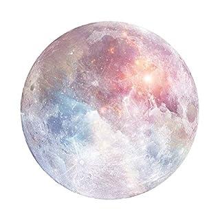 Alohha Mauspad, Rutschfest, Planet Mauspad für Desktops, Computer, PC und Laptops, individuelles rundes Mauspad für Zuhause und Büro und Reisen, Pink Moon