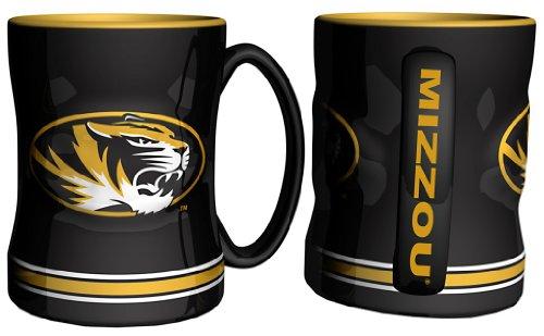 Boelter Brands Missouri Tigers 15Oz Relief Tasse–schwarz (License Missouri Plate)