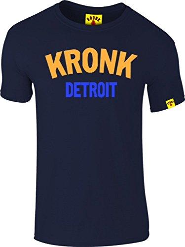 Kronk Detroit Boxing Gym 2 colour men's slimfit t shirt Navy