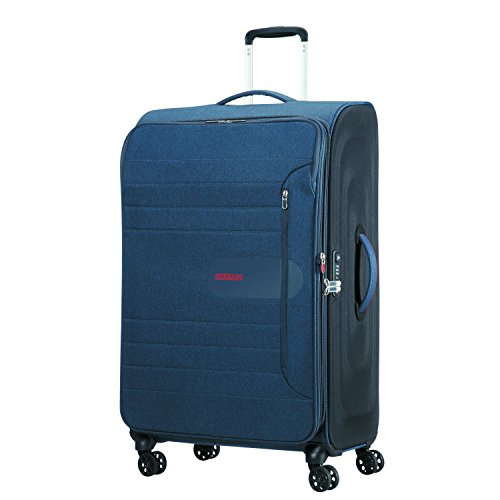 American Tourister Sonicsurfer - Spinner 80/30 Expandable Koffer, 80 cm, 125 L, Midnight Navy
