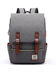 Upinva Canvas backpacks capacity Vintage Laptop Bag Computer