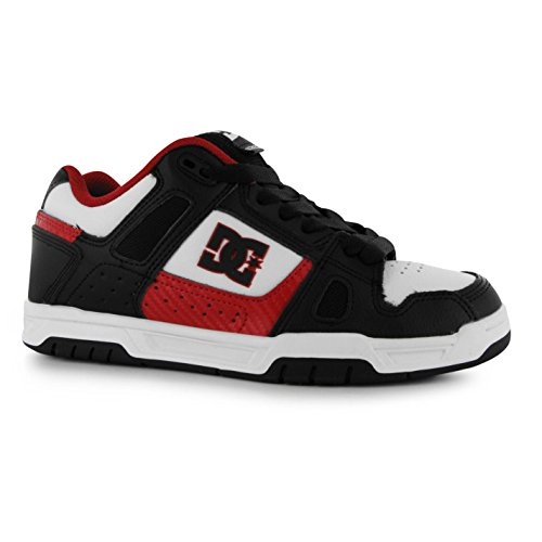DC Stag Skate Scarpe Casual da uomo, colore: nero/bianco/rosso, Sneakers, nero/bianco/rosso