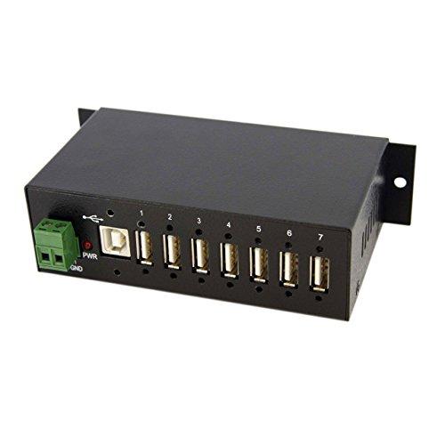 StarTech.com Industrieller montierbarer 7 Port USB 2.0 Hub, schwarz -