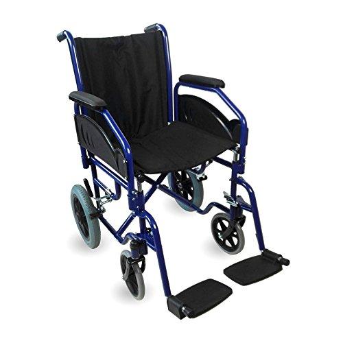 Foto de Silla de ruedas plegable y autopropulsable | Reposabrazos y reposapiés extraibles | Ancho de asiento de 45 cm | Peso máx. 100 Kg | Mod. Maestranza | Mobiclinic