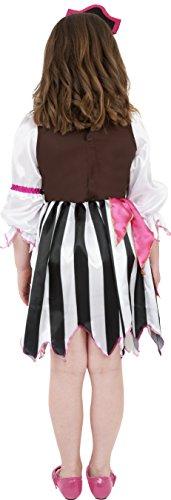 Imagen de smiffy's  disfraz de pirata rosa para niña, talla s 4 6 años  alternativa