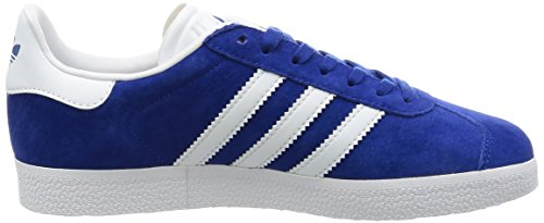 adidas Gazelle, Formatori Bassi Unisex – Adulto Blu (Collegiate Royal/white/gold Metallic)