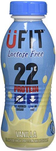 UFIT Vanilla Lactose Free High Protein Shake Drink, 8 x 310 ml