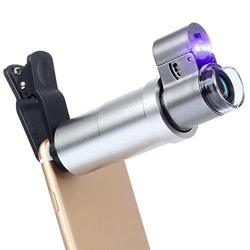 APEXEL 200X optisches Zoom Mikroskop Lupe mit Universal Clip für iPhone 7/6/6/6s plus Samsung...