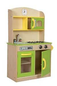 Teamson Kids Wooden Deluxe Play Kitchen Green Pretend