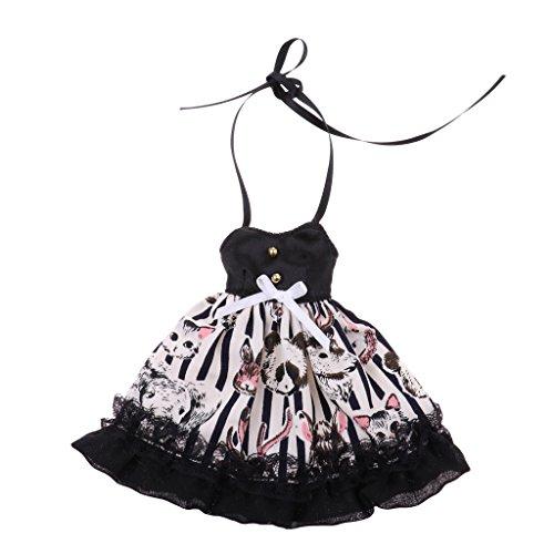 Sharplace Modische Puppenbekleidung Hosenträger Rock Trägerlosen Kleid Für 1/6 BJD Dollfie DOD DZ AS Puppen - # 5 -
