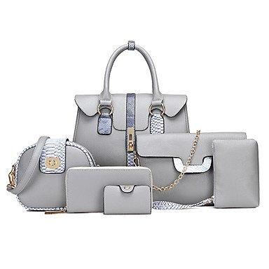 Le donne della moda classica borsa Crossbody,arancione Gray