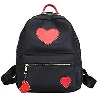 Rucksäcke Damen Mode Btruely Mädchen Schultaschen Frau Elegant Reisetaschen Mode Frau Tasche Hochschulwind Leinwand Rucksack (Rot)
