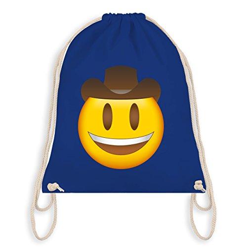 Comic Shirts - Emoji Cowboy-Hut - Unisize - Royalblau - WM110 - Turnbeutel & Gym Bag