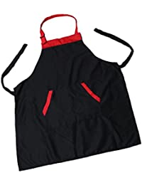 Almencla Cocinar Delantal De Cocina Para Mujer Hombre Chef Camarero  Cafetería Barbacoa Peluquería - Negro 6318a2f0775